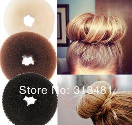 Wholesale Big Bun Ring - Wholesale-Hair Accessaries Foaming Ball Shape Hair Bun Ring Hair Donut Shaper Big Size 9cm A18R18C