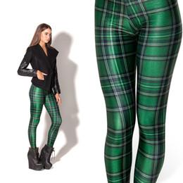 $enCountryForm.capitalKeyWord Canada - 2016 Black Milk Leggings Women Legging Pants Tartan Green Leggings Fitness Clothing For Women Plus Size