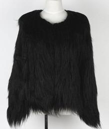 Wholesale Winter Furry Jacket - Wholesale-Women Fake Fur White Jacket Winter Nature Fur Coat Ladies Fur Outerwear Furry Thick Fur Coat SWQ008
