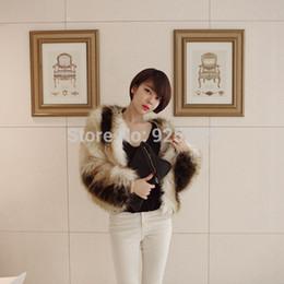 Wholesale Warm Fur Lined Womens Coats - Wholesale-Ladies Womens Faux Fur Warm Winter Overcoat Jacket Short Coat Gradient Outerwear