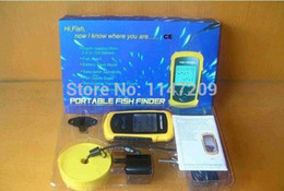Wholesale Sonar Equipment - Wholesale-Tamehome 2015 hot sale Portable Sonar LCD Fish Finder Alarm Fishing equipment