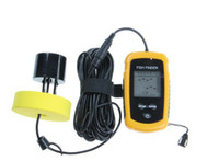 Wholesale Accurate Fishing - Wholesale-Portable 200KHz 100m Depth Sonar Sounder Alarm Transducer Fish Finder 100m Accurate