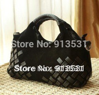 новые матовые сумки оптовых-Wholesale-Free shipping 2015 New arrival fashion Frosted woven Genuine leather handbags / shoulder bags