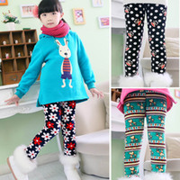Wholesale Thick Kids Leggings For Winter - Wholesale-New Arrive winter girls' leggings,kids clothing warm pants children's cotton casual trousers,more thick pants for kids