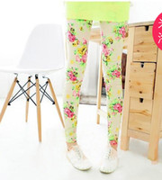 "Wholesale Wholesale High Profit - Wholesale-""0"" profit Only Earn Reputation free shipping high quality 1pc retail 2-7 years girl legging flower colors leggings for"