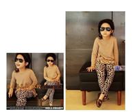 Wholesale Leopard Pants For Girls - Wholesale-1Pcs Baby Girls' Leggings Fashion Leopard Print For 1-5yrs Children Pants Kids Fall Winter Clothing Warm Trousers fashion