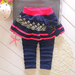Wholesale Girls Leggings Flowers - Wholesale-2015 spring 1-4 year baby pants for girls leggings dots flower cotton girls skirt legging K07