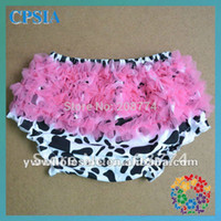 Wholesale Cute Pantie Girls - Wholesale-Lovely Cotton Baby Ruffle Bloomer Infant Girl Pantie Shorts Toddler Cute Summer Diaper Cover 24pcs