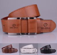 Wholesale Dark Brown Leather Belt Men - Wholesale-2015 designer brand luxury leather belt for men women strap good quality design belts men cintos cinturones hombre free shipping