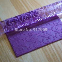 Wholesale Cake Decorating Embossing - Acrylic Transparent Embossing Rolling Pins SugarCraft Fondant Cake Decorating Tools Brand Rolling Pin Fondant Embosser RP471