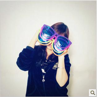 Free Shipping + Funny oversized sunglasses glasses party glasses fans literally shoot props dress gift