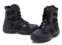 Wholesale Black Leather Combat Boots - Wholesale-Blackhawk Military Men Boots Tactical Combat Outdoor Army Shoes Desert Hiking Botas Leather Ultralight High Autumn Boots Male