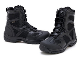 Army combAt boots men online shopping - Blackhawk Men Boots Tactical Combat Outdoor Army Shoes Desert Hiking Botas Leather Ultralight High Autumn Boots Male
