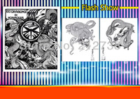 """Wholesale Tattoo Flash Dragon Free - Free shipping 100 Dragons Japanese tattoo designs reference by Horimouja Flash Book 11"""""""