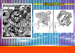 """Wholesale Tattoo Flash Book Reference - Free shipping 100 Dragons Japanese tattoo designs reference by Horimouja Flash Book 11"""""""