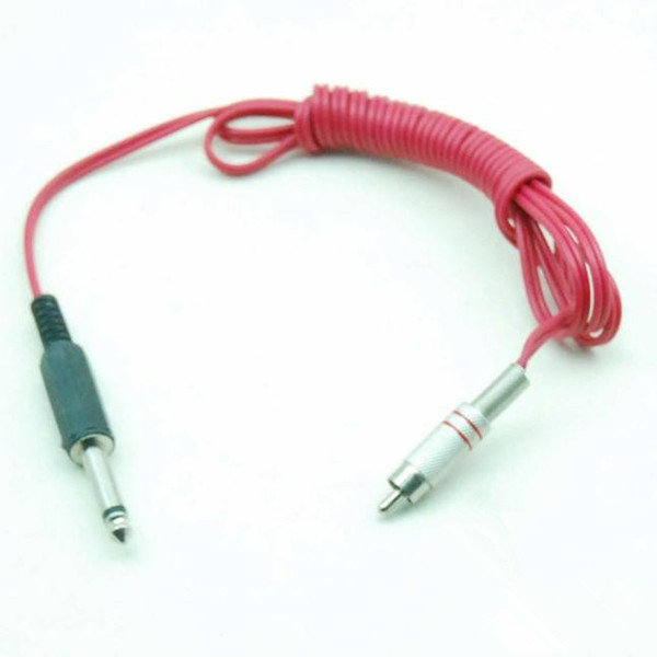 6Ft 1.8m Flexible Silicone RCA Clip Cord Plug 4 Machine De Tatouage Alimentation Pédale Pédale Rouge