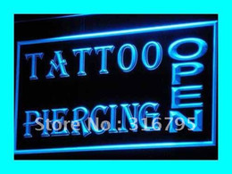 Wholesale Shop Tattoos - i213-b OPEN Tattoo Piercing Shop NEW LED Neon Light Signs