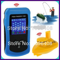 Wholesale Sonar Equipment - Wholesale-3pcs DHL free shipping Wireless 0.6-36 Meter Fish finder sonar fish finder portable fish finder fishing equipment fishfinder