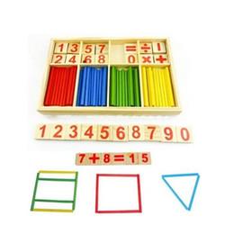 Wholesale Wooden Math Sticks - Wholesale-1PC Top Selling!Mathematical Intelligence Stick Digital Sticks Math Toy,Kids Educational Wooden Math Childhood Toys FZ2065