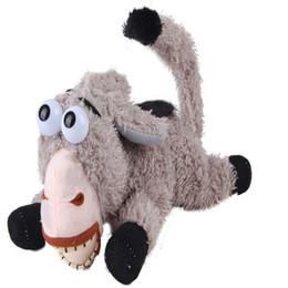 Wholesale Donkey Roll - Wholesale-Free Ship 30cm Voice Control Rolling Donkey Cartoon Toy Animal Doll Pure Cotton Plush Toy Stuffed Birthday Wedding Gift TY116