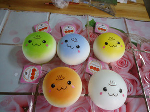 Wholesale-(Update quality )20pcs lots 10cm cute lovely bread squishy humburger tags