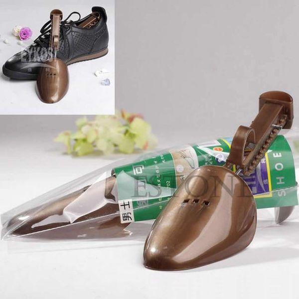 Al por mayor-libre del envío hombres ajustables de plástico zapatos Tree Keepers Support Stretcher Shoe Shapers