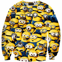 Wholesale Despicable Gru - Digital Printing Hot-Selling 2015 NEW Women Sweatshirt 3d Print Retro Digital Printing Despicable Me Gru Plus Size hoodies