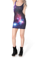 Wholesale Spandex Bodycon Dress Wholesale - Summer Style Sleeveless Galaxy Dress Fitness Women Bandage Bodycon Dress 2015 New Arrival Plus Size Woman Clothes