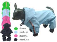 Wholesale Dog Clothes Pants - Wholesale-Pet dog dog clothes clothes   raincoat rain pants poncho Seckill rain jumpsuits