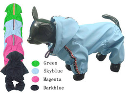 Wholesale Pet Jumpsuits - Wholesale-Pet dog dog clothes clothes   raincoat rain pants poncho Seckill rain jumpsuits