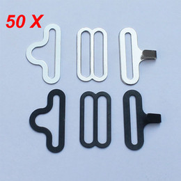 Wholesale Wholesale Fastener Hardware - 50 Bow Tie Hardware Sets Necktie Hook Bow Tie or Cravat Clips Fasteners to Make Adjustable Straps on Bow Ties   Neckties
