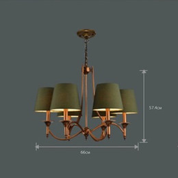 Wholesale Country Chandelier Shades - Wholesale-Brief Pastoral Green Shade Simple Country Bronze Living Dining Room Decorative Fixture Chandelier Lighting Ceiling Lamp Lights