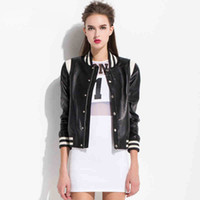 Wholesale Real Girls Breast - Wholesale-2015 Autumn New Arrival Real Leather Short Jackets Female Genuine Sheep Skin Coat Baseball Style Young Girl Outwear Garment