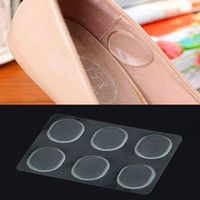 Wholesale shoe gel silicone heel - Wholesale-6 PCs Sheet Women Ladies Girls Silicone Gel Shoe Insole Inserts Pad Cushion Foot Care Heel Grips Liner