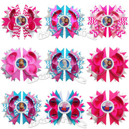 """Wholesale Large Boutique Bows - Wholesale-Free shipping 10pcs lot 4.5""""- 5"""" stacked bows with bottle cap character boutique bows for girls large hair bows"""
