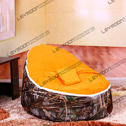Wholesale Sofa Cover Beanbag Bean Bag - Wholesale-FREE SHIPPING baby seat cover with 2pcs orange up cover baby bean bag chair bean bag sofa furniture baby bean bag chairs beanbag
