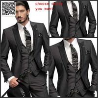 Wholesale Cheap Men S Wedding Suits - Wholesale-italian wedding suits men wedding party men suits  party dress Lounge suit & Wedding Tuxedos  wedding suits cheap groom
