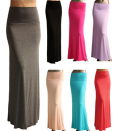 women skirt models 2019 - 2015 New Ladies Solid Color Chiffon Slim Hip Long Style Fishtail Skirts Models Specifically Fashion Women Skirts Long Sk