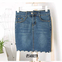 Wholesale Discount Sexy Straight - Brand discount Women Brand Sexy High waist Short Jean Skirts Washing Tassels Zipped Denim Saias Maxi skirts jupe