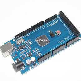 Wholesale Arduino Board Usb - Wholesale-Smart Electronics Mega 2560 R3 Mega2560 REV3 (ATmega2560-16AU CH340G) Board ON USB Cable compatible for arduino [No USB line]