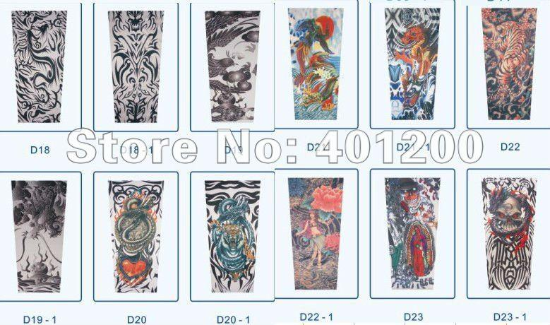 Wholesale Fashion Temporary Tattoo Sleeves Arm Stocking Design - Design your own tattoo game