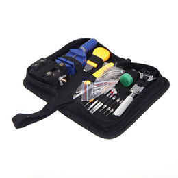 portable tool kits Canada - Durable Portable 144pcs Watch Repair Tool Kit Watchband Link Remover & Zip Case Watchmaker