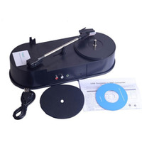 Wholesale Phonograph Turntable - Wholesale-USB Mini Phonograph Turntable Vinyl Turntables Audio Player Support Turntable Convert LP Record to MP3 Function F13766