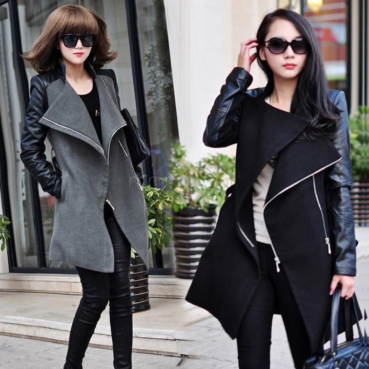 2017 Wholesale Winter Coat New Fashion Lady Punk Quilted Lining ...
