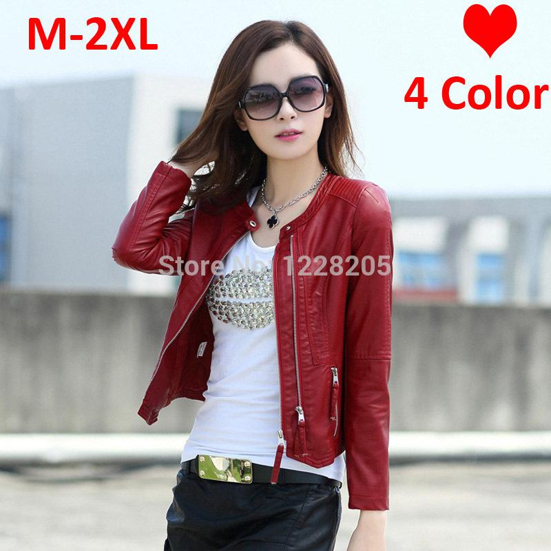 3642fe023eb8 Wholesale-Hot Faux Leather Women Coats Womens Leather Jackets Spring ...