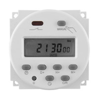 Wholesale Timer 12v 16a - Wholesale-DC 12V 16A LCD Digital Display Power Programmable Timer Switch for Light Free shipping