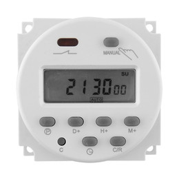 Wholesale 12v Digital Timer Switch - Wholesale-DC 12V 16A LCD Digital Display Power Programmable Timer Switch for Light Free shipping
