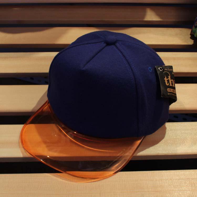 Summer Sun-shading Hat Transparent Plastic Hat Brim Cap Hip-hop Cap ... 89ae0db74f9