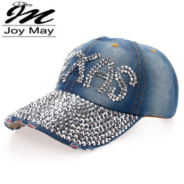 Wholesale Texas Caps - 2015 New High quality Wholesale Retail JoyMay Hat Cap Fashion Leisure TEXAS Rhinestones Vintage Cotton CAPS Baseball Cap B111