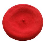 Wholesale Tam Beret - Wholesale-Hot Fashion Wool Warm Women Felt French Beret Beanie Newsboy Berets Tam Hat Cap